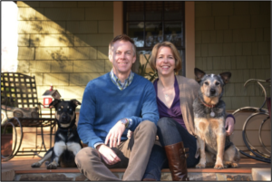 Macy (3, left) and Bodie (10, right) each began their lives in shelters, but found a home with Chris and Karen. They've subsequently been guests in many different kennels and pet resorts. They'll serve as consultants, playmates and greeters at Pampered Pets Inn.